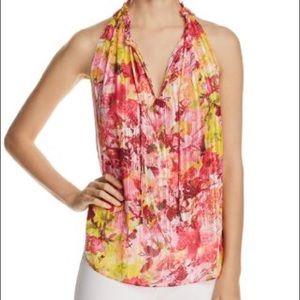 Tahari Lynna floral blouse